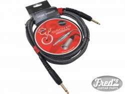 GROVER NOISELESS GUITAR CABLE BLACK-GOLD 3 M (10')