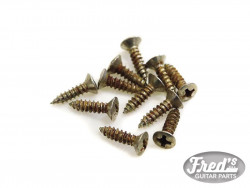 AGED NICKEL PICKGUARD SCREWS