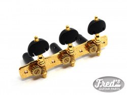 CLASSIC 510 BLACK BUTTONS GOLD AXES BLACK ALU  1:16