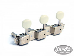 KLUSON STYLE 3 ON PLATE NICKEL  1:15 WHITE BUTTONS