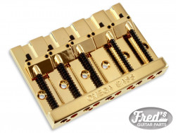 5-STRING OMEGA BASS BRIDGE GOLD