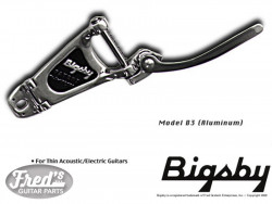 BIGSBY B3 NICKEL - NO BRIDGE