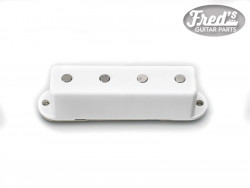 VOX STYLE BASS PICKUP WHITE COVER SINGLE COIL 5.6Ko NO SCREW