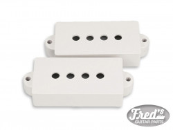 P BASS PU COVER VINTAGE WHITE GLOSS SET