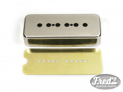 COVER P90 METAL NICKEL (INCL. BRASS BASE PLATE)