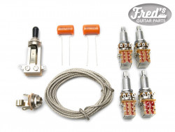 JIMMY PAGE LES PAUL WIRING KIT (4x PUSH-PULL,SWITCHCRAFT,ETC)