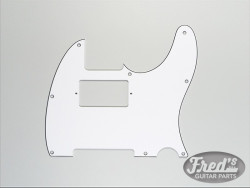 TELE HUMBUCKING WHITE 3-PLY .090