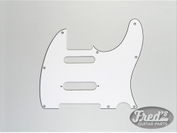 TELE CUT FOR STRAT IN MIDDLE WHITE 3-PLY 8 H .090