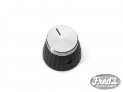 MARSHALL KNOBS (2) BLACK WITH SILVER CAP (INCL SET SCREW)