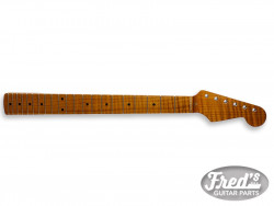 STRAT ROASTED MAPLE NECK WITH FLAMES 10 RADIUS 21 TALL FRETS FINISHED