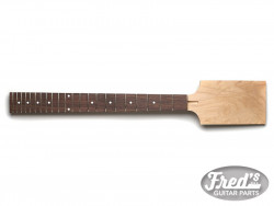 PADDLE NECK ANGLED MAPLE/ROSEWOOD 22F 648mm  (NO FINISH)