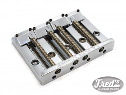 4 STRINGS BADASS II BASS BRIDGE CHROME (19mm PITCH)