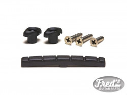 BLACK TUSQ XL SLOTTED NUT + RETAINER PACK 43 x 3.26 x 5.08