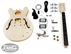 KIT 335 STYLE MAPLE- 24-3/4 -SET NECK ROSEWOOD 22- CHR