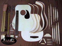 DREADNOUGH GUITAR KIT SPRUCE-MAHOGANY UNASSEMBLED