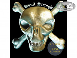 SKULL STRINGS GUITAR REGULAR DROP A 13-68