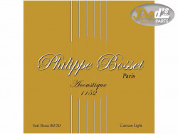 !! DISCONTINUED !! PHILIPPE BOSSET ACOUSTIQUE SOFT BRASS  CUSTOM LIGHT 11-52