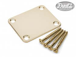 NECK PLATE + SCREWS STANDARD GOLD