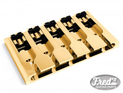 5-STRING 3-D TOP LOAD BASS BRIDGE GOLD (16.8mm +/-1mm PITCH)