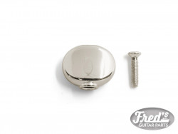 REPLACEMENT ROUND BUTTON (FOR HIPSHOT, KLUSON AND MORE) NICKEL