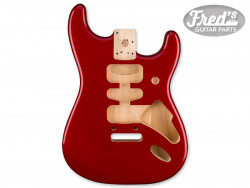 Deluxe Series Stratocaster® HSH Alder Body 2 Point Bridge Mount, Candy Apple Red