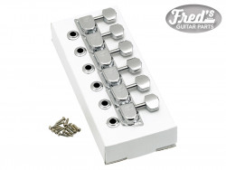 70s F Style Stratocaster®/Telecaster® Tuning Machines Chrome (6)