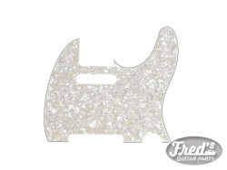 Pickguard, Telecaster®, 8-Hole Mount, Aged White Pearl, 4-Ply