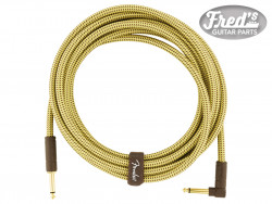 FENDER® DELUXE SERIES INSTRUMENT CABLE STRAIGHT/ANGLE 15 (4.5 M) TWEED