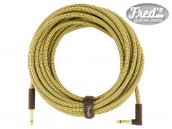 FENDER® DELUXE SERIES INSTRUMENT CABLE STRAIGHT/ANGLE 25 (7.5 M) TWEED
