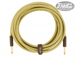 FENDER® DELUXE SERIES INSTRUMENT CABLE STRAIGHT/STRAIGHT 15 (4.5 M) TWEED