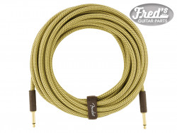 FENDER® DELUXE SERIES INSTRUMENT CABLE STRAIGHT/STRAIGHT 25 (7.5 M) TWEED