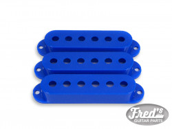 ALL PARTS® PICKUP COVERS FOR STRAT® BLUE GLOSS SET (3pcs)