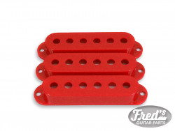 ALL PARTS® PICKUP COVERS FOR STRAT® RED GLOSS SET (3pcs)