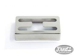 H HOLE NICKEL SILVER COVER FOR HUMBUCKER NICKEL