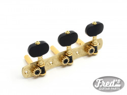 GOTOH® MACHINE HEADS FOR SLOTTED HEAD 35P1800 EBONY BUTTONS SOLID BRASS (1:14)