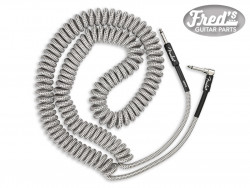 FENDER® PROFESSIONAL SERIES COIL CABLE, TWEED, 30' WHITE