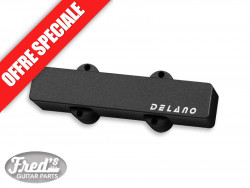 DELANO J. BASS 5 TWIN COIL COVER BK NO HOLE