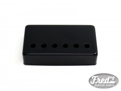 50mm SILVER COVER FOR HUMBUCKER BLACK
