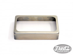 OPEN SILVER COVER FOR HUMBUCKER AGED