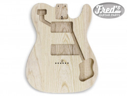 *HOSCO® TELE® DELUXE® BODY SWAMP ASH 2pc CNC MACHINE ONLY UNFINISHED