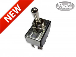 TOGGLE SWITCH 3 POSITIONS (ON/OFF/ON) CHROME 250V / 10A