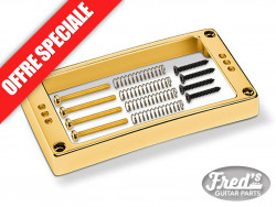 SCHALLER PICKUP RING 3 HOLES ARCHED 1/2 GOLD (WITH SCREWS)